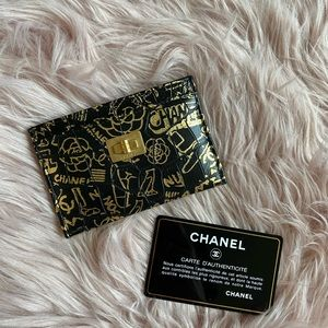 CHANEL Bags - Chanel Slim Cardholder Black Leather Wallet